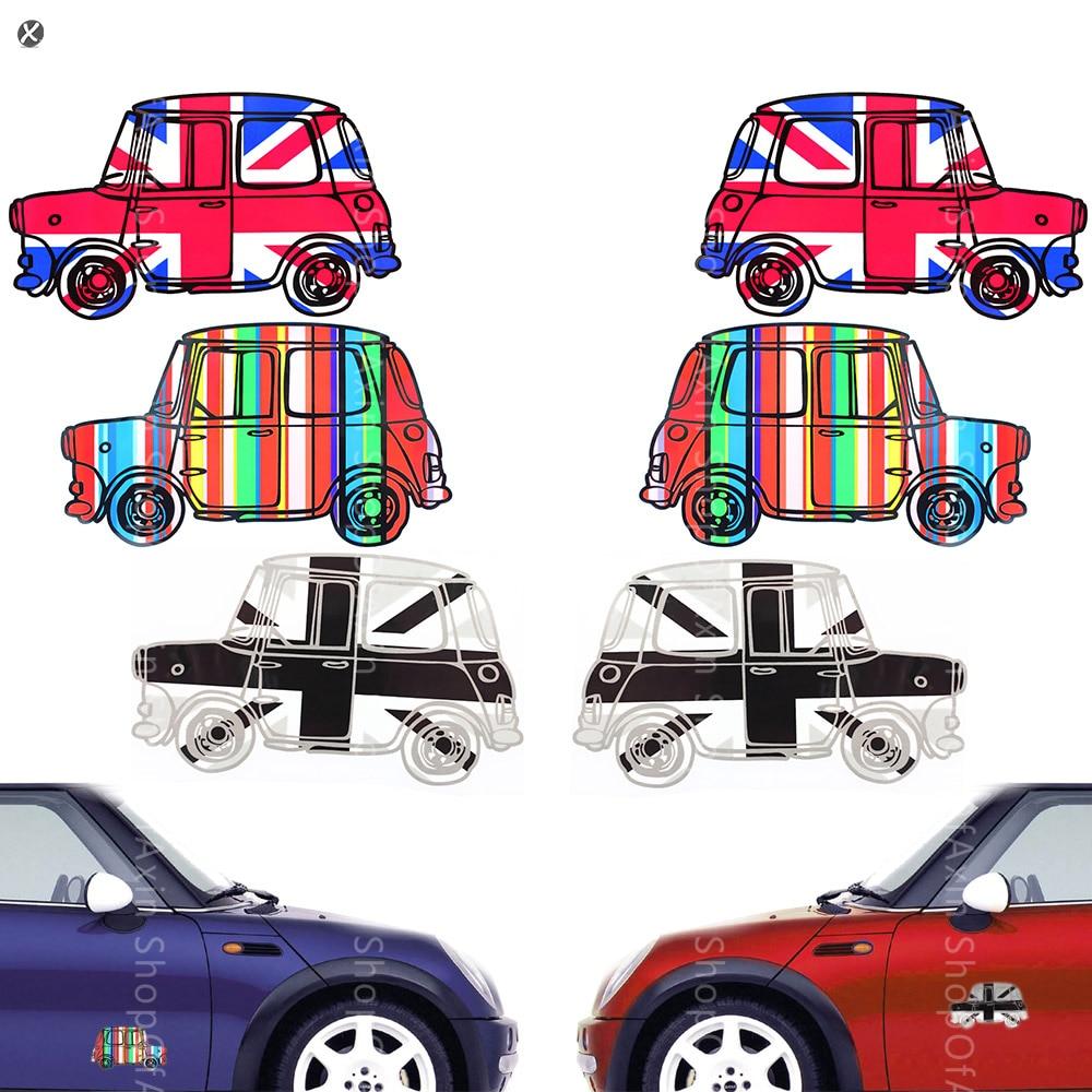 Design a car sticker online - Colorful Retro Vintage Car Decorative Stickers For Mini Cooper China Mainland