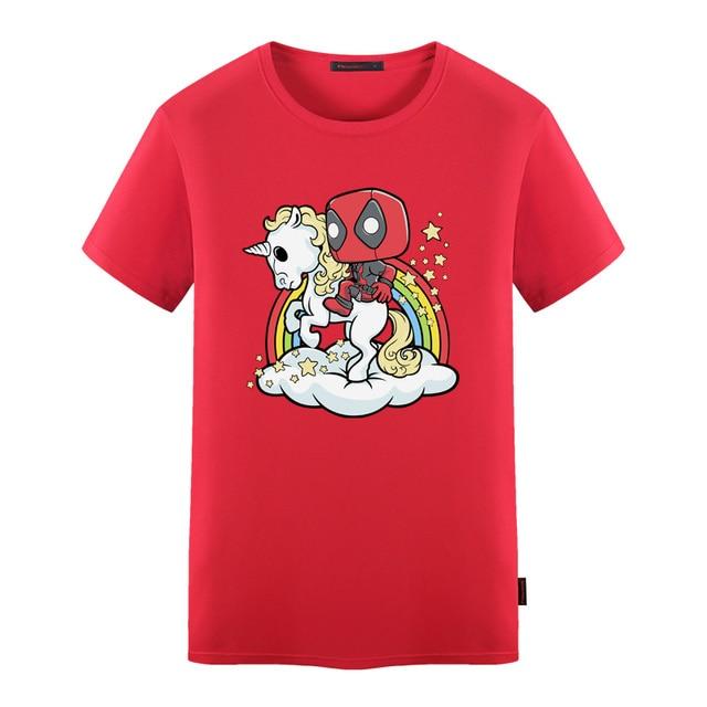 Licorne Deadpool Shirt T Style Manches Courtes À Hommes Wiht Mort D'été Piscine fxqgxA