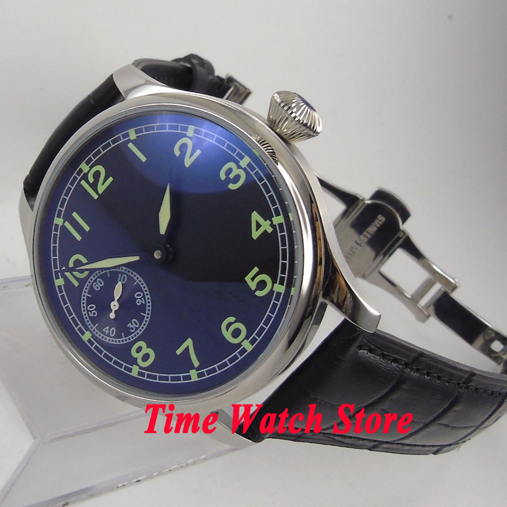 Parnis watch 44mm black sterial dial green marks deployant clasp mechanical 6497 hand winding movement Men's watch P5 44mm black sterile dial green marks relojes 6497 mens mechanical hand winding watch luminous armbanduhr cm164bk