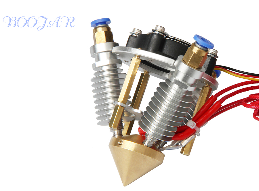 Extruder jhead Full kit Brass Nozzle 3 IN 1 OUT 0.4mm For 1.75mm Filament Multi Nozzle Mixing Colors for Kossel printer quality um2 extended 3d printer full kit not assemble with master single nozzle
