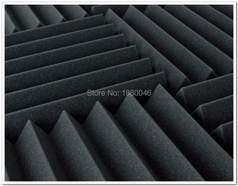 Free shipping New 48pieces black color 30*30*5cm Acoustic Wedge - Home Decor - Photo 3