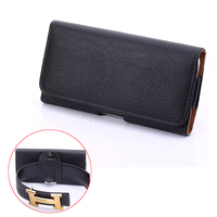 High Quality PU Leather Waist Belt Pocket Universal Phone Cover Case For Huawei P8 Lite Honor