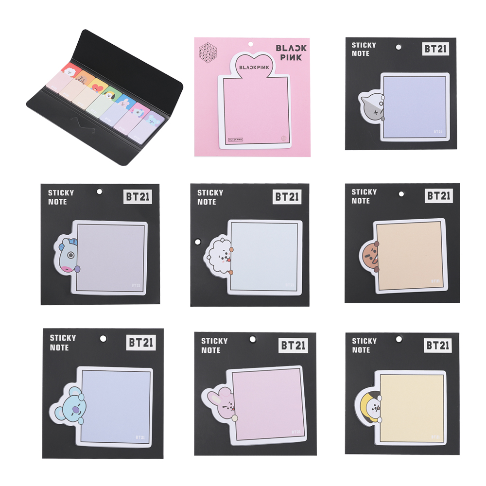 Memo Pads Office & School Supplies Got7 Blackpink Bangtan Boys Pattern Memo Pad Cute Sticky Notes Memo Pad Paper Sticker Bookmark Stationery School Supplies Selected Material