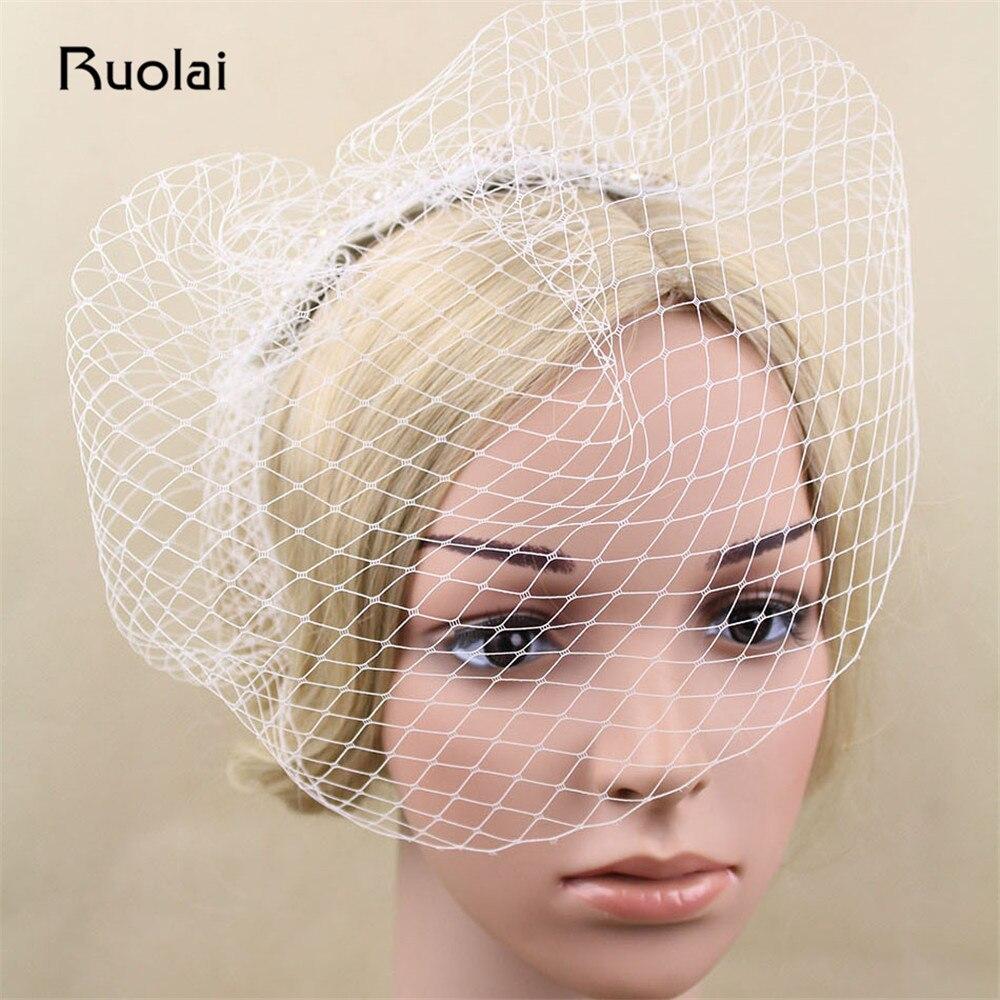 2019 European Style Short Wedding Veil Beaded Vintage Bridal Bird Cage Veil Short Bridal Veil For Wedding Party FV1