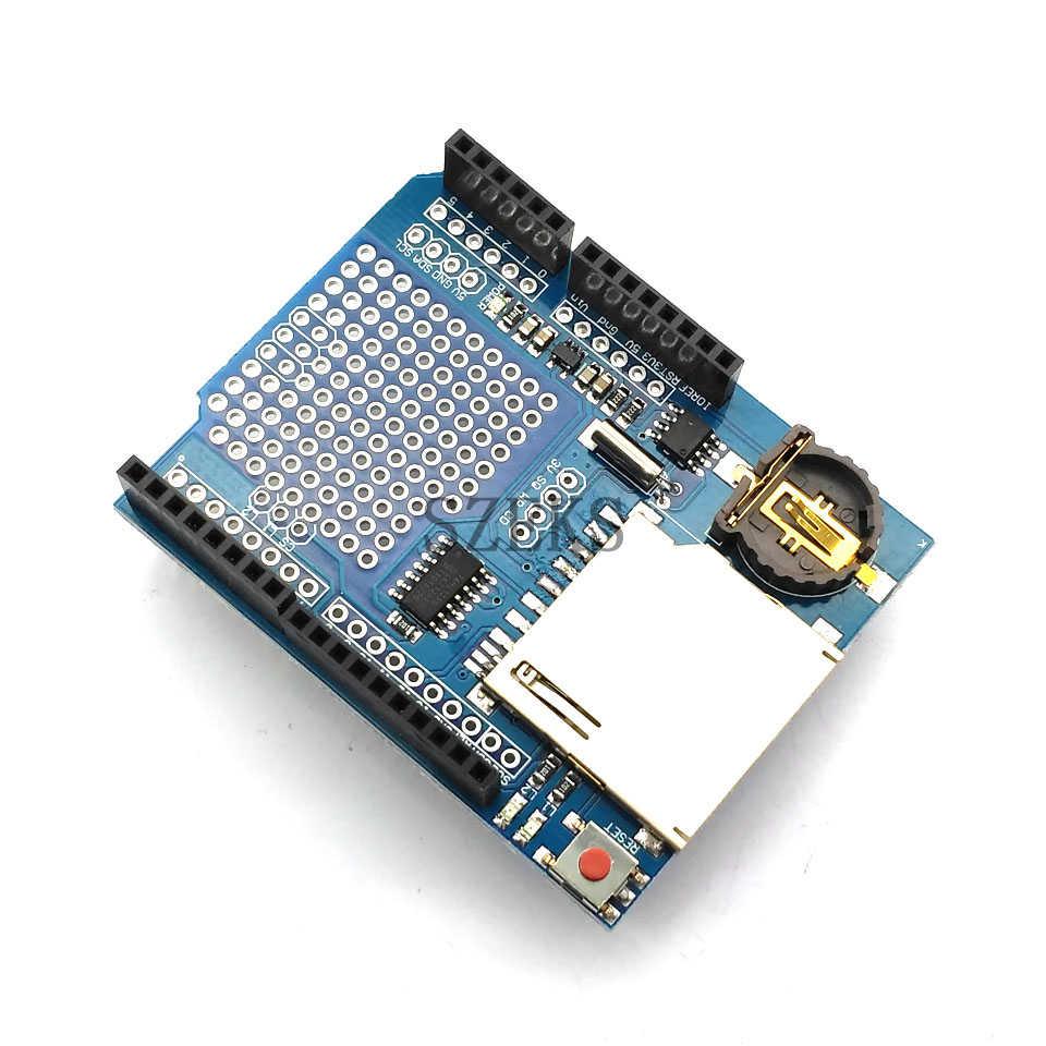 New Data Loggear Module Logging Recorder Shield V1.0 for Arduino UNO SD Card No battery pack