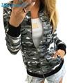 Прочный 2017 мода Куртки Женщины Хлопок Свободные Камуфляж Пальто Стенд Воротник Зима Улица Случайные Куртки