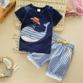 Baby Summer short-sleeved Set Cotton children's clothing boy summer Set children Casual two - piece  infants 0-5 years old