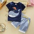 Bebê Verão de manga curta-Set Algodão roupa das crianças boy verão Set crianças Casual two-piece bebês 0-5 anos de idade