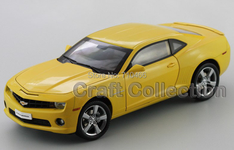 Hand Made 1 18 Yellow Chevrolet Camaro ZL1 Coupe Alloy Model Car Sport Car Made by