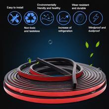 5M10M Car Door Seal Strips Sticker B Type Weatherstrip Rubber Sound Insulation Sealing Automobiles Interior Accessories