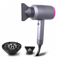 Hair Dryer Electric Hair Blowing Maching Anion Caring 3 Nozzles 1100W Strong Power Strong Wind Fast Drying Thermal Protection