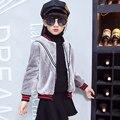 2016 Novo casaco de pele do falso da menina das crianças outono e inverno jaqueta criança outerwear inverno casuais