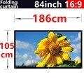 84 polegada 16:9 branco PVC cortina macia Wall monte projetor telas para todos os móvel portátil projetores HD tela de cinema em casa