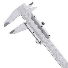 Discount! Vernier Caliper 6″ 0-150mm/0.05 1/128in Carbon Steel Metric/Inch Calipers Micrometer Measuring Tools