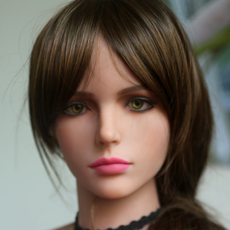 NEW 51# Top quality sex doll lifelike head for japanese doll, real sexy dolls silicone head, oral sex products top quality 51 cyberskin sex doll head for silicone adult dolls and real human dolls oral sex prodcuts