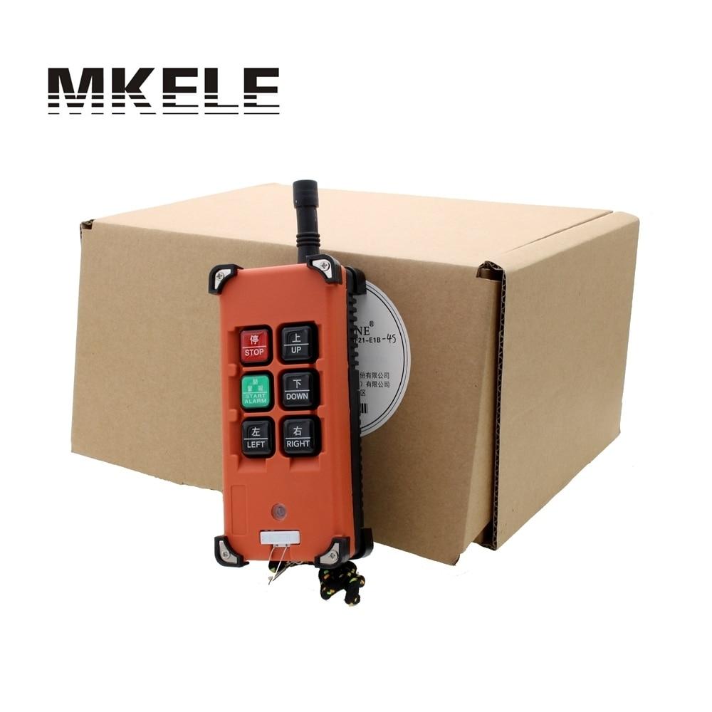 AC 220V 380V 110V DC 12V 24V Crane Industrial Remote Control Wireless Transmitter Push Button Switch 1 transmitter 1 receiver