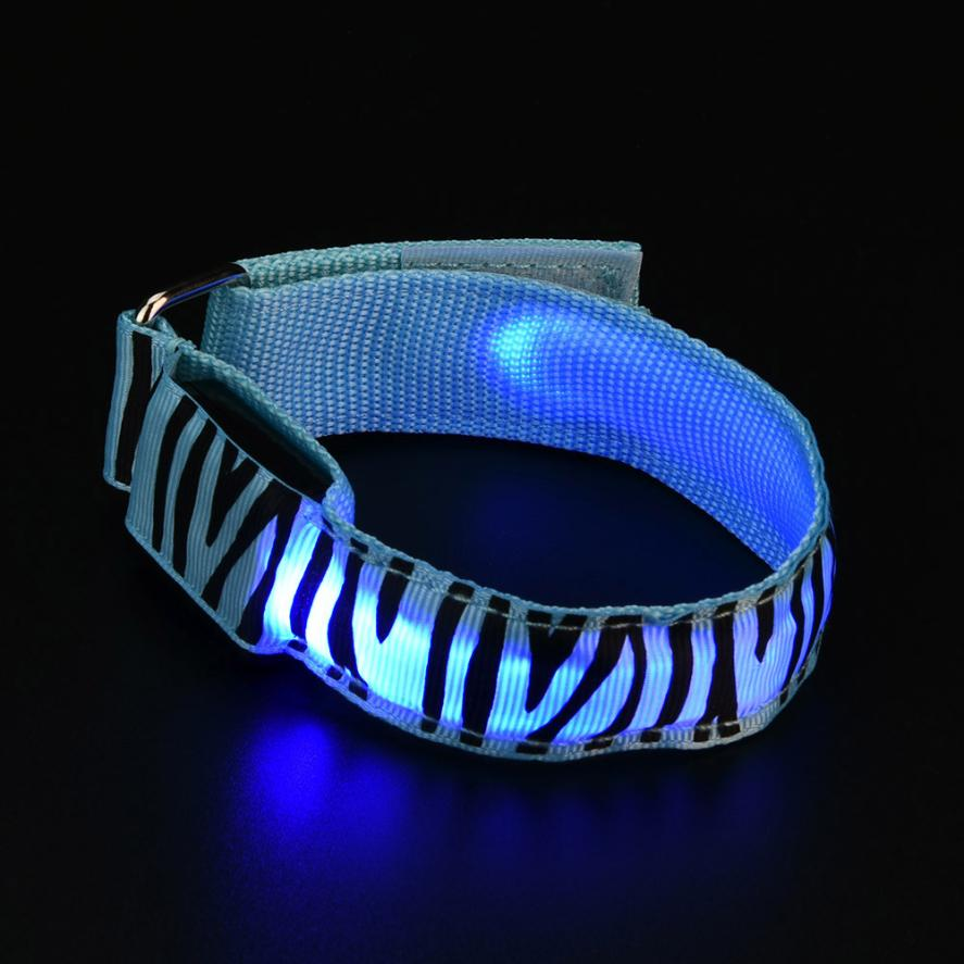 Reflective LED Light Arm Armband Strap Safety Belt For Night Running Cycling