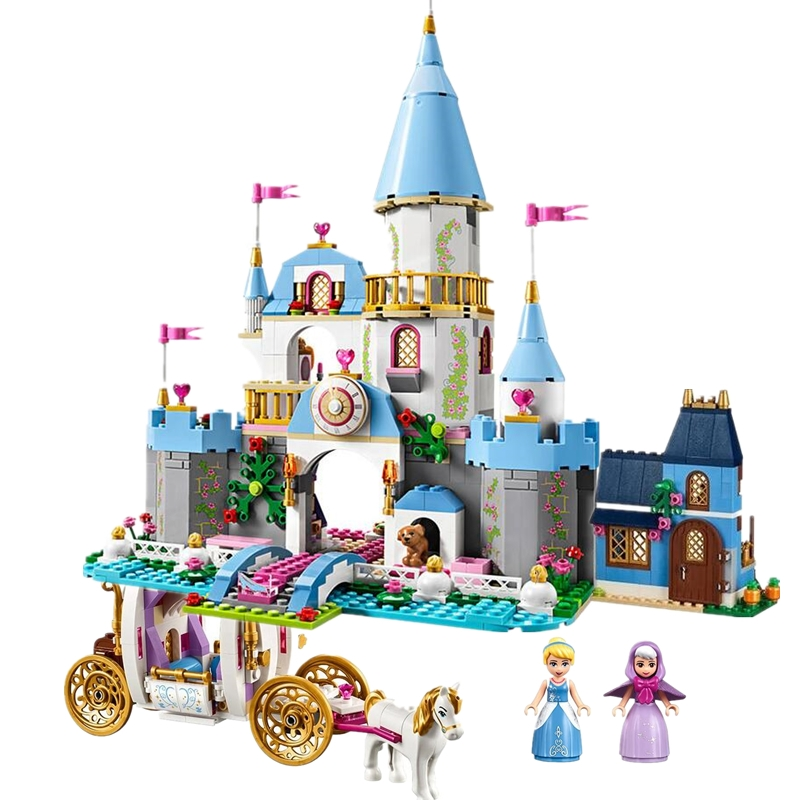 New 1064pcs Princess Series Cinderella Magic night Romantic Castle Girls Building Block Brick Compatible With Legoinglys 41055 cinderella cinderella night songs