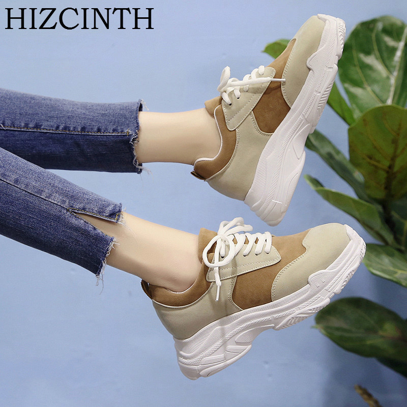 HIZCINTH 2018 Spring Casual Shoes Woman Brand Sport Shoes,  Korean Bf Wind Students Flats Shoes Leisure Flat Platform Loafers hevxm 2017 spring korean ladies fashion round head flat pu ordinary shoes female students british wind shoes