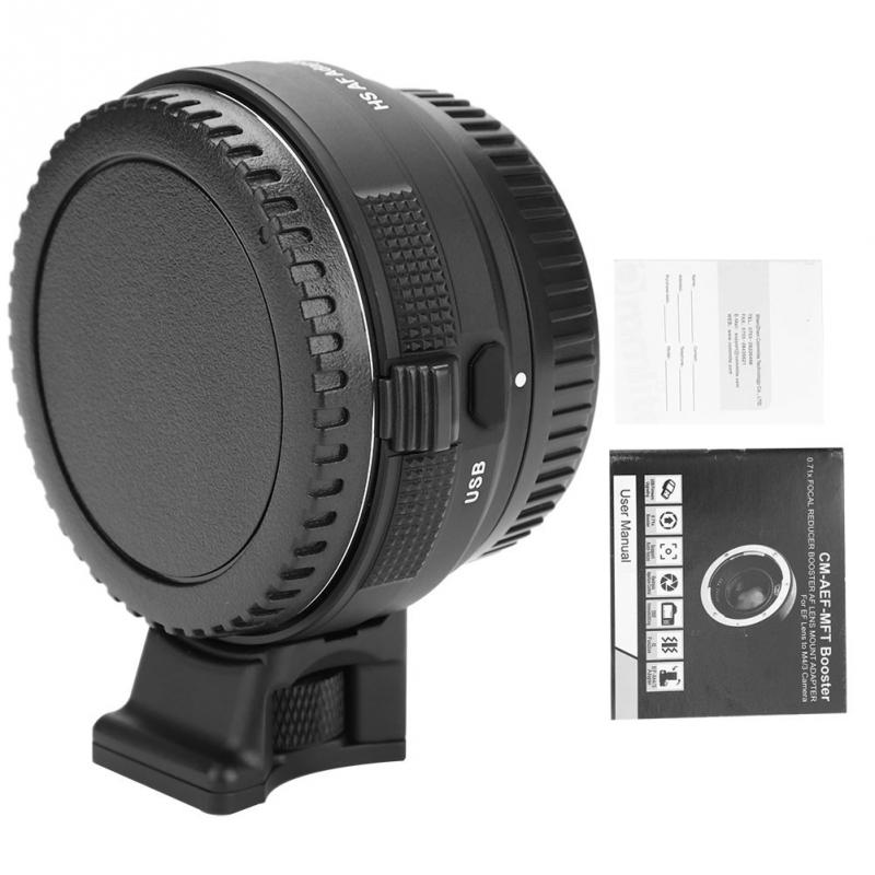 Commlite CM EF E HS Auto Fo cus Lens Adapter for Ca non EF EF S