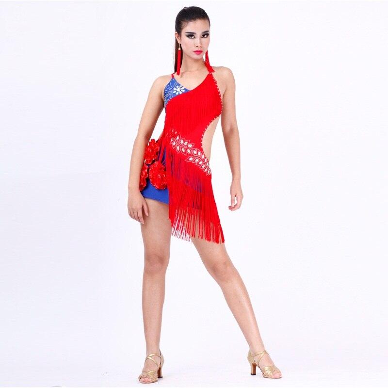 high grade rhinestone sequined Latin font b dance b font costumes font b tango b font