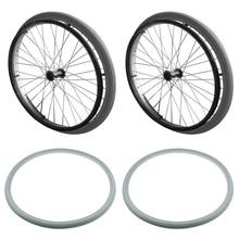 2 шт полиуретановые уличные шины для инвалидных колясок подходят для большинства 24x1 3/8 дюймов