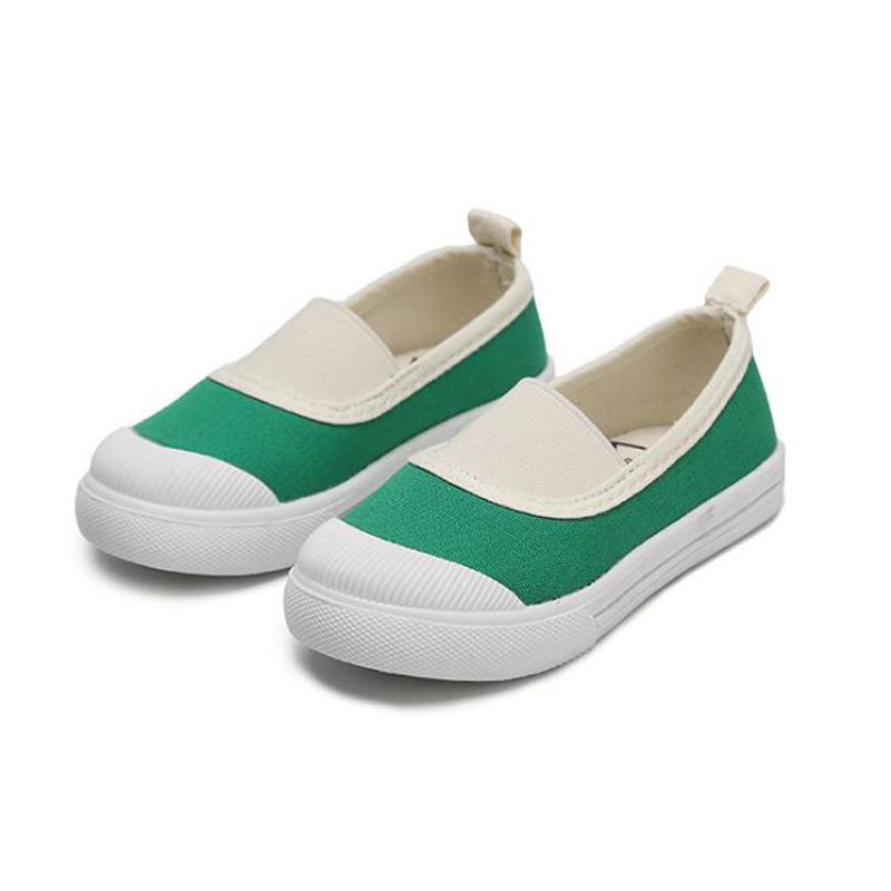 Children Canvas Casual Shoe Boys Girls Fashion Breathed Shoes Kids Elastic Band Non-slip Shoes Student School Skate Shoes #17
