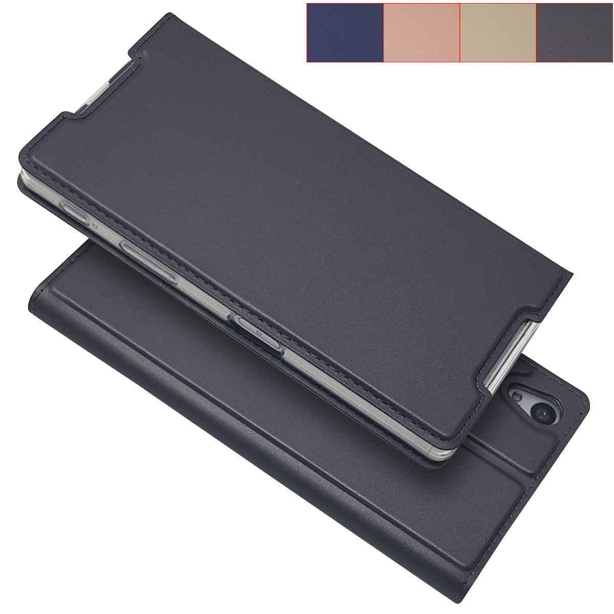 Matte Wallet Case Flip Case for <font><b>Sony</b></font> <font><b>Xperia</b></font> <font><b>Z5</b></font> E6603 E6633 <font><b>E6683</b></font> Magnetic adsorption Cover phone case for <font><b>Sony</b></font> <font><b>Z5</b></font> image