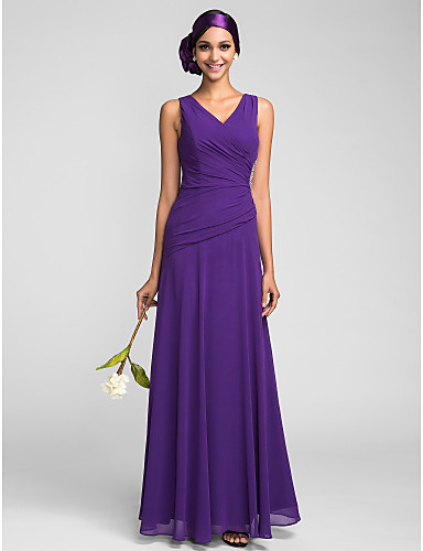 2016 Long Cheap Bridesmaid Dresses Sheath Regency Royal Blue