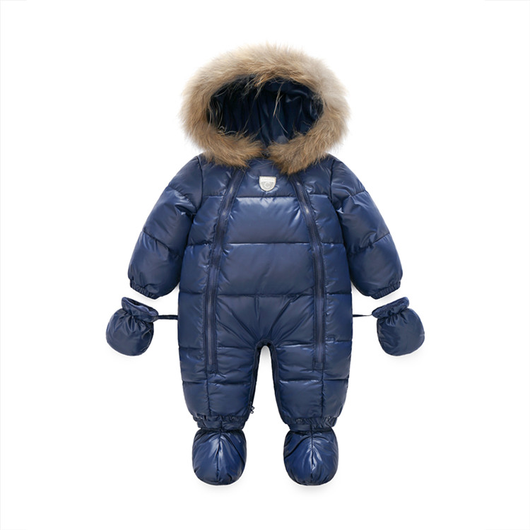 349c0c433 2019 2018 Baby Girls Rompers Winter Thick Boys Costume Warm Infant ...