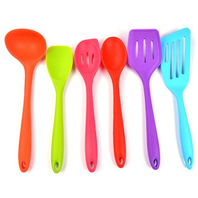 colorful kitchen utensils. Interesting Kitchen BEINIU 6pcsset Silicone Colorful Cooking Utensil Set Heat Resistant Non  Stick Utensils Throughout Kitchen C