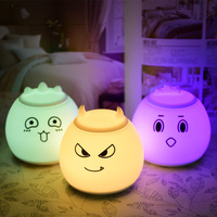 Silicone LED Night Light Cartoon Halloween lantern Baby Kids Children Night Lamp Warm Light RGB LED 5V USB Rechargeable Lamp