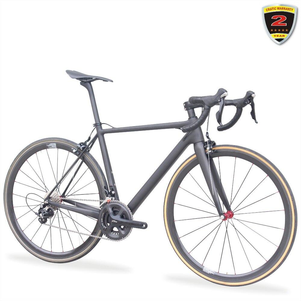 2018 Route t700 En fiber de Carbone Route Vélo 7.8 kg Vélo Complet SHI-MANO 5800 Tubulaire Bicicleta Carbone Route Cadre