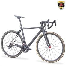 2018 t700 Carbon fiber Szlak Rowerowy 7 8 kg Kompletny Rower Drogowego SHI-MANO 5800 Bicicleta Rurowa Węgla Ramki Drogowego tanie tanio Unisex Inne pedały 11 kg Gumowy odporność (medium biegów bez tłumienia) Rama twardego (nie tylny amortyzator) V hamulca hamulec tarczowy