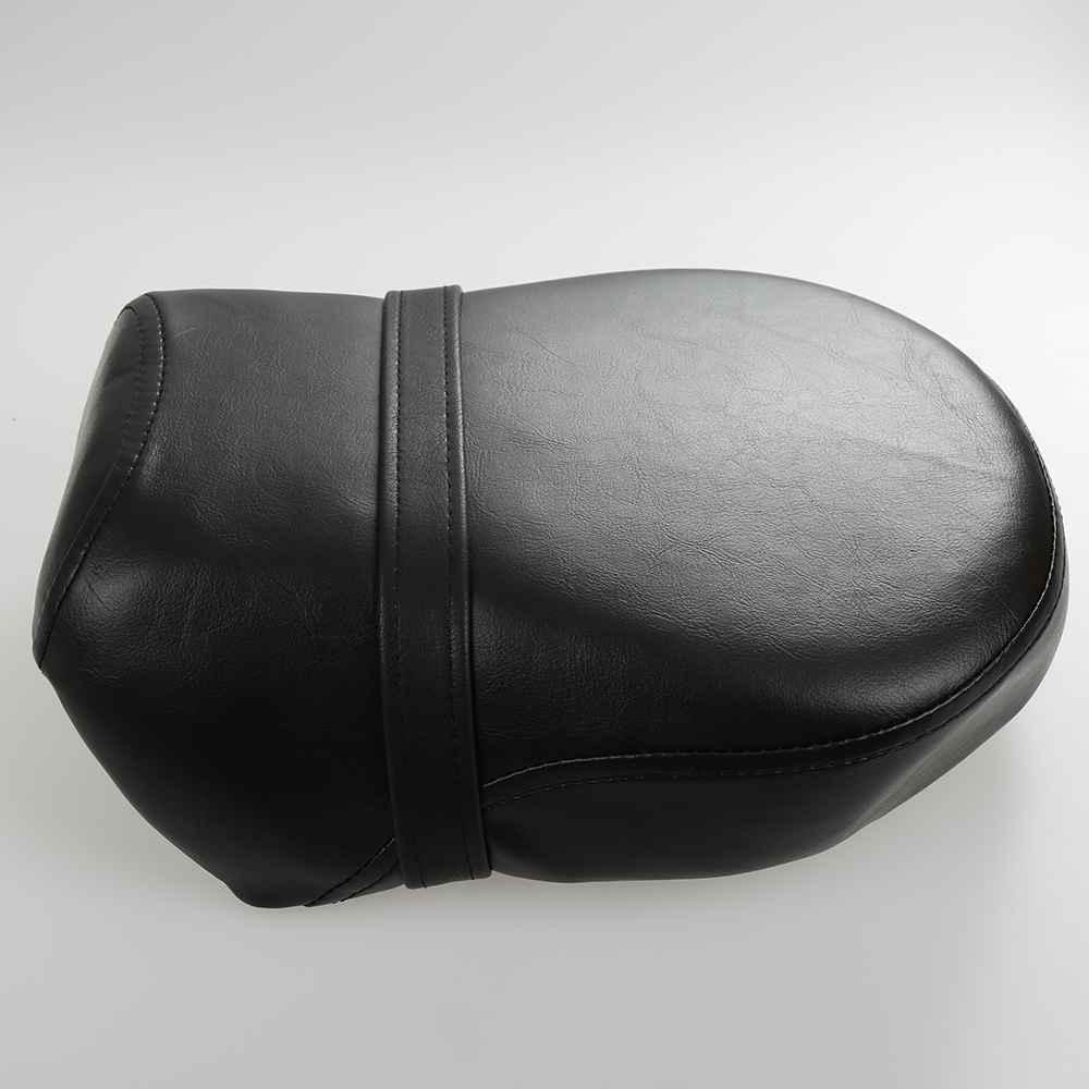 Rear Passenger Seat Pillion Cushion Black Leather Solo Slim Seat Large For Harley Bobber Chopper Custom Honda Yamaha Suzuki
