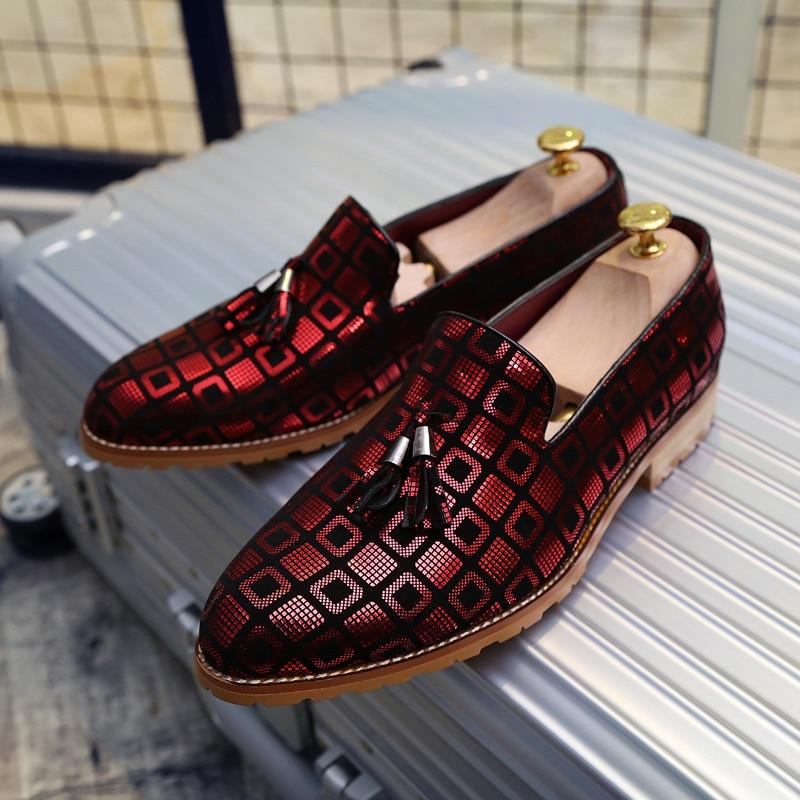Marca Novia Punta Lujo Remache Boda Moda Cuero Del De rojo Hombres oro 2a Negro Vestido Partido plata Oxfords Los Genuino Zapatos La En rOrq5w