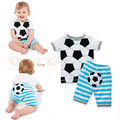 2017new Arrivals summer baby boys girls set Casual Football clothing set tops+shorts sport suit 2pc newborn clothes toddler wear