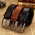 HONERCOO  Men Belt Pin Buckle 100% Genuine leather Belt For men Vintage Male For men Belt Cinto macho