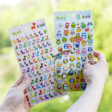 1Pcs Colour Owl Toy Stickers for Laptop Car Styling Phone Luggage Bike Motorcycle Mixed Cartoon Pvc Waterproof Sticker(China)