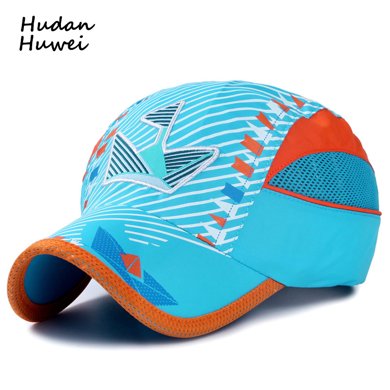 Summer Embroidery Boat Children's Net Caps Fast Dry Cool ...