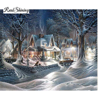New 5d DIY Diamond Painting Snow House Home Decoration Full Mosaic Crafts Embroidery Cross Stitch Kits