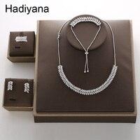 Hadiyana Fashion Horse Eye Pendant Jewelry Adjustable Set New Charming Dubai Cubic Zirconia Jewelry Accessories Set TZ8075