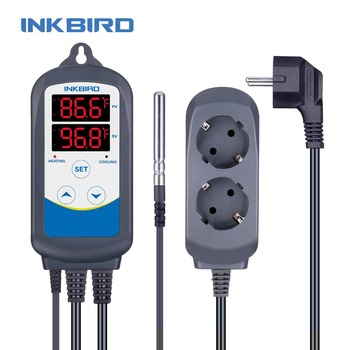 Newest Inkbird 12 Periods ITC-310T-B Digital Heating & Cooling Thermometer Temperature Controller For Home Brewing Greenhouse