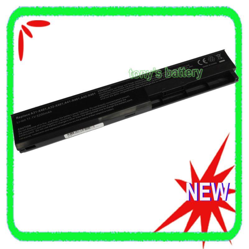A31-X401 A32-X401 A42-X401 Laptop Battery For Asus X301 X301A X301U X401 X401A X401U X501 X501A X501U laptop keyboard for asus x501 x501a x501u black without frame italian it mp 11n66i0 920w 0knb0 6103it00