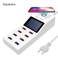 INGMAYA Wireless USB Charger 8 Port 8A Quick Charge 3.0 Fast Charging For iPhone 8 X Samsung S7 S9 Edge Huawei Nexus Mi Adapter