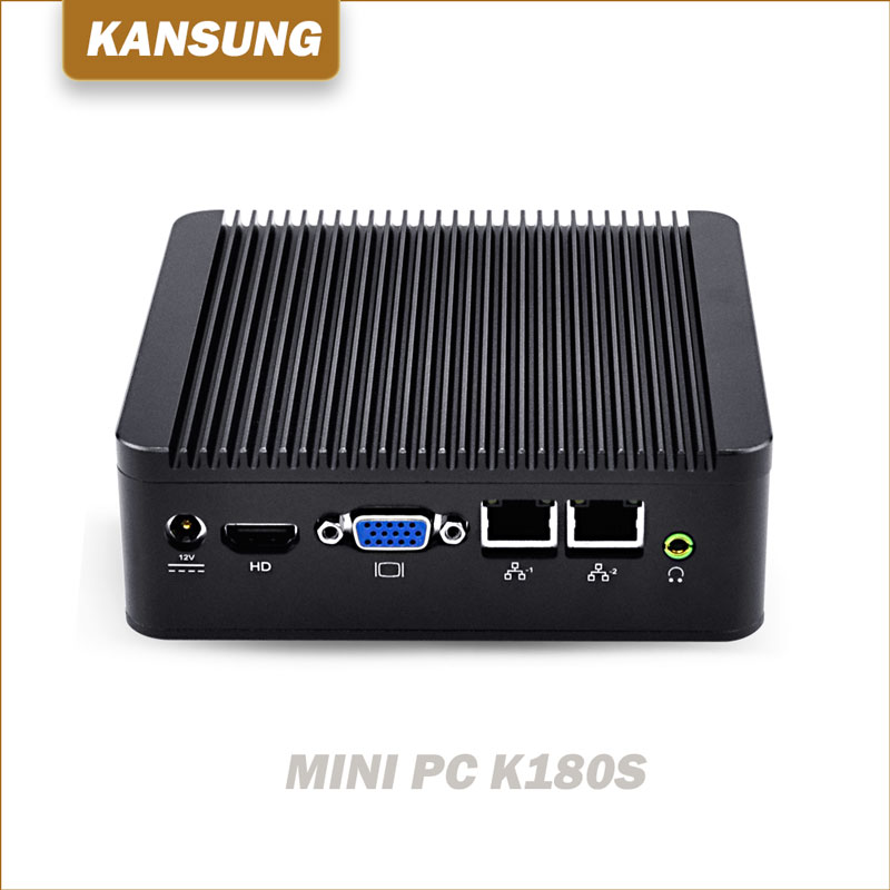 Cheap Mini PC Windows 10 J1800 J1900 Mini Computer Dual Gigabit Ethernet 1xRS232 4xUSB Fanless HTPC WiFi HD VGA PC