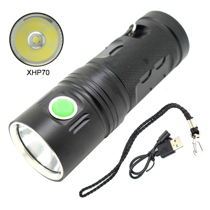 High Power USB LED Light Rechargeable Flashlight X900 Bicycle 18650 Torch XPH70 Waterproof Flashlights 1000 Lumen Bike Lights