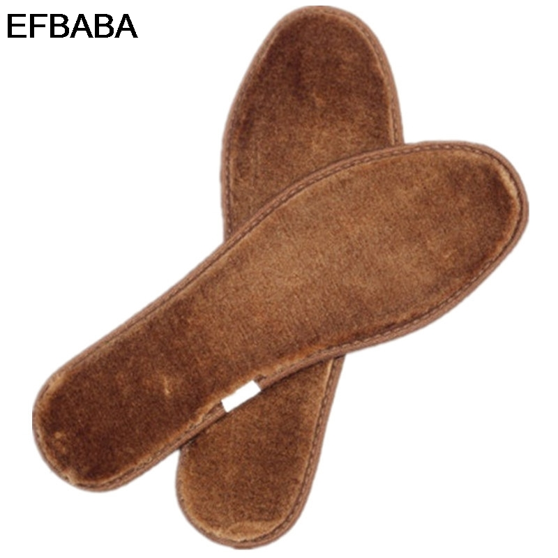 EFBABA Bamboo Charcoal Deodorant Shoe Insole Sweat Absorbent Winter Warm Insoles Men Women Shoe Pad Inserts Accessoire Chaussure