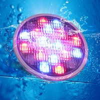 hot sale Stainless steel +PC remote control underwater light IP68 PAR56 72W RGB, AC12V LED Swimming pool light safe in used