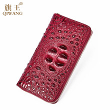 Women Long Wallets Crocodile Split Leather Female Purse Zipper Clutch bag Women's Card Holder Coin Pocket Ladies Long Wallets